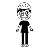 Man firefighter avatar character icon Royalty Free Stock Photography