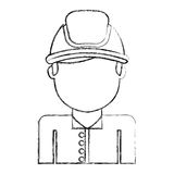 Man firefighter avatar character icon Stock Images