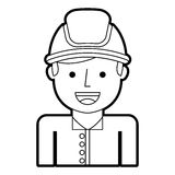 Man firefighter avatar character icon Royalty Free Stock Image