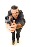 Man and Firegun Royalty Free Stock Photo