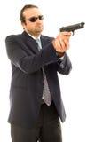 Man and Firegun Royalty Free Stock Images