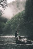 A man fishes in Oregon. A man fishes for the big one in Oregon Stock Image