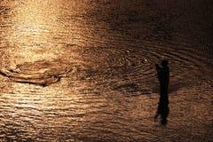 Man fishing Stock Image