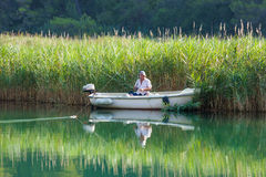Man fishing Royalty Free Stock Image