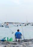 Man fishing. Stock Image