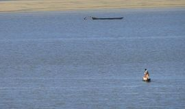Man fishing in Brazil. Homem pescando no Brasil Stock Photos