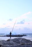 Man fishing Stock Photography