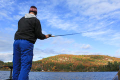 Man Fishing Fisherman Royalty Free Stock Photos