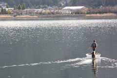 Man Fishing Lake. Stock Photography