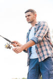 Man fishing. Stock Photo