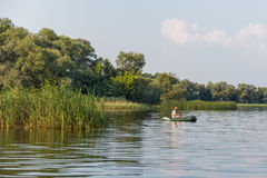 Man fishing Royalty Free Stock Photography