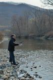 Man on fishing  Royalty Free Stock Image