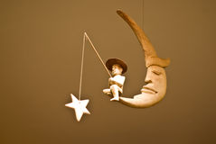Man fishing the star, Toy mobile Royalty Free Stock Images