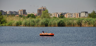 Fishing in Bucharest Stock Image