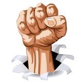 Man Fist royalty free illustration