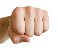 Man fist. Isolated on white background Royalty Free Stock Photos