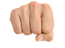 Man fist horizontal view Royalty Free Stock Photography