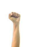 Man fist isolated on white background. Stock Images