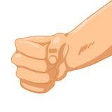 Man Fist on white background. Vector illustration Stock Photo