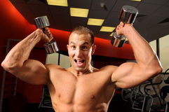 The man in fitness centre Royalty Free Stock Photos