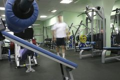 Man in fitness club Stock Photography