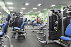 Man in fitness club Royalty Free Stock Photography