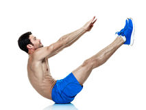 Man  fitness exercises isolated Royalty Free Stock Photos