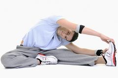 Man fitness isolated Stock Image