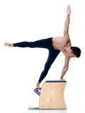 Man fitness pilates exercices isolated royalty free stock image