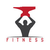 Man of fitness silhouette character with Stock Images