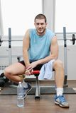 Man fitness workout Royalty Free Stock Photo