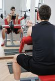 Man fitness workout Stock Photo