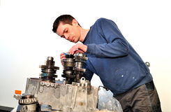 Mechanic at work. Stock Images