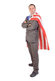 Man with the flag Royalty Free Stock Image