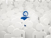 Man with flag of antarctica in a crowd. 3D illustration stock illustration