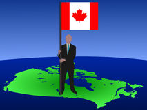 Man with flag of Canada Royalty Free Stock Image