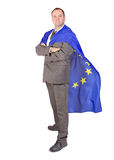 Man with the flag EU Stock Photography