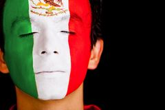 Man with flag of Mexico Stock Photos