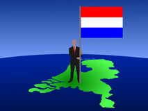 Man with flag of netherlands Royalty Free Stock Images