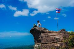 Man of flag. Flag of thailand Stock Image