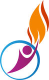 Man with flame. A vector drawing represents man with flame design royalty free illustration
