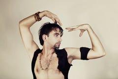 Man flamenco dancer Royalty Free Stock Photos