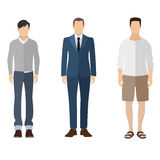 Man flat style icon people figures set Stock Photos