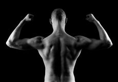 Man Flexing Arms Stock Images