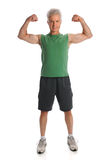 Man Flexing Muscles Stock Photography