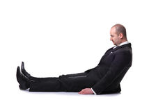 Man on floor Royalty Free Stock Image