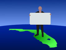 Man on Florida with sign Royalty Free Stock Image
