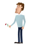 Man with a flower Stock Image