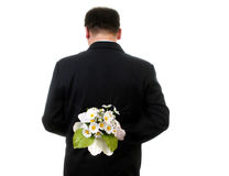 Man with flower Royalty Free Stock Photos