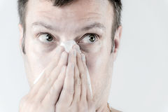 Man with flu Stock Image